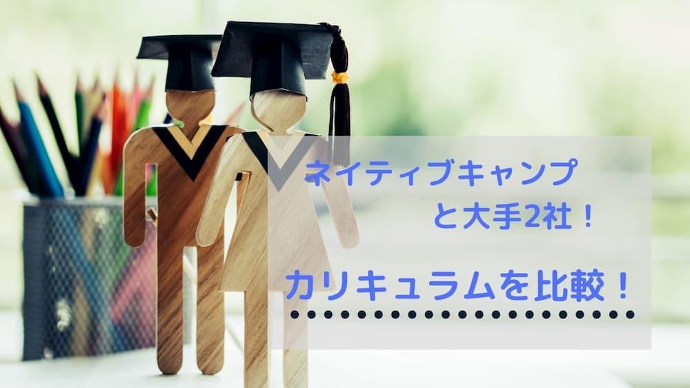 ネイティブキャンプと他のオンライン英会話のカリキュラムや教材を比較する